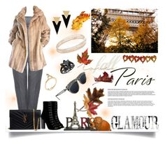 """Paris Fall Getaway"" by jeneric2015 ❤ liked on Polyvore featuring Alexander McQueen, Lilli Ann, Barbara Bui, Yves Saint Laurent, Rina Limor, Jean-Paul Gaultier, Anne Klein, Kate Spade and fallgetaway"
