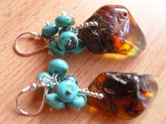 Baltic amber and turquoise