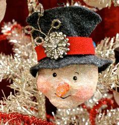 Unique Christmas Bazaar Craft | Each one is unique with its own little vintage trim...
