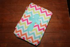 Rainbow Chevron Bible Cover by SassybySacha on Etsy, $25.00 price includes embroidered name or initial.