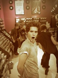 Brads reaction at how many fans The Vamps have!>>> honey, that ain't even all of us.