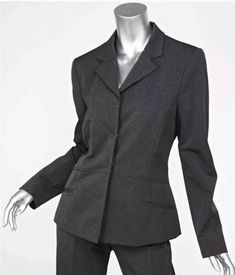 1d5fe37ef2bcc9 PRADA Women's Charcoal Gray Wool Blend Snap-Button Jacket Blazer XS 0  Italian 38 #fashion #clothing #shoes #accessories #womensclothing  #suitssuitseparates ...