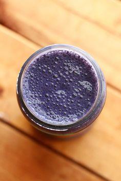 Blueberry Banana Smoothie (vanilla soy milk, 1... -