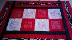 My wall redwork quilt that will hang over my bed when I revamp my room