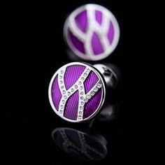 Purple Enamel Base Cufflinks