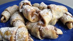 Fun Thanksgivukkah dessert to make with the kids, Easy Rugelach made with pie crust dough. And put pumpkin filling in it for a Thanksgiving twist!