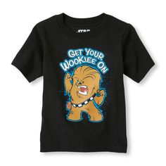 Short Sleeve Star Wars 'Get Your Wookie On' Graphic Tee   Boys' fashion   Every silly Jedi will love this graphic tee!