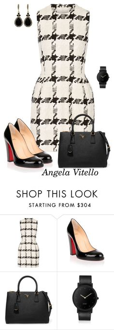 """Untitled #917"" by angela-vitello on Polyvore featuring Alexander McQueen, Christian Louboutin, Prada, South Lane and Givenchy"