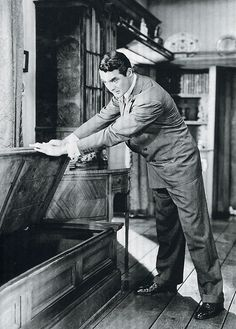 "Cary Grant in Arsenic and Old Lace. ""Look, Aunt Martha, men don't just get into window seats and die!"""