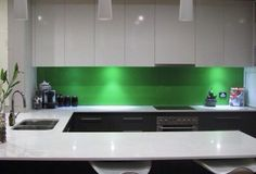 Easy to clean with NO grout lines. Byron Bay, Glass Splashbacks, Flat Screen, Cleaning, Grout, Kitchen, Easy, Image, Beautiful