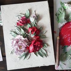 Доброе утро и хорошего вам дня!!! Яндекс сообщил мне , что до нового года всего 12 дней🙉🙊🙉 Вы уже подготовили всем подарки и вообще готовы к встречи с собачкой?🐶⛄❄🎄 #flovers #цветы #живопись #объемнаяживопись #скульптурнаяживопись #_виктория_осипова_ #Тула #декортула #объемныецветы #interior #декоративнаяштукатурка #москва #painting #sculpturalpainting #volumepainting #creativity #decorativeplaster #design #interiordesign #painter #красный #red #пион #картинасцветами