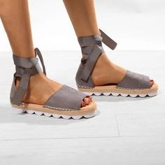 Plus Size Espadrilles Sandals Peep Toe Lace Up Summer Platform Sandals Espadrille Sandals, Espadrilles, Types Of Shoes, Birkenstock, Peeps, Peep Toe, Lace Up, Platform, Summer Sandals
