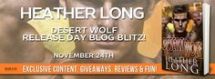 Author Heather Long and UNTAMED WOLF'S Dylan Royce Discuss the Care and Feeding of Omegas (For DESERT WOLF's Release Day and Giveaway!) | Becky on Books...and Quilts