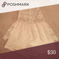 White Lace Romper White lace romper zips up the back super cute on can be dressed up with heels or played down with Flats Endless Rose Other