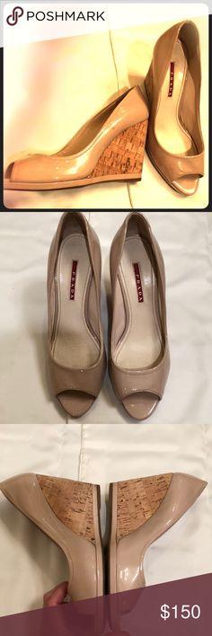 Prada wedges in tan color Prada wedges in tan color Prada Shoes Wedges
