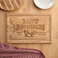 Need a unique gift? Send BBQ Master Wood Cutting Board and other personalized gifts at Personal Creations. Diy Cutting Board, Wood Cutting Boards, Chopping Boards, Wooden Boards, Personalised Gifts Unique, Personalized Products, Diy For Kids, Gifts For Kids, Diy Christmas Gifts For Dad
