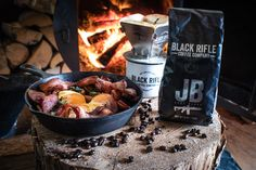 Fire + breakfast + BRCC = best way to start your Friday! Black Rifle Coffee Company, Coffee Recipes, Good Company, Acai Bowl, Roast, Breakfast, Bugs, Food, Friday