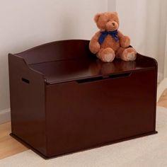 Kidkraft Austin Toy Kids Room Cherry Wood Box Chest & Bench Storage & Organizer  #KidKraft