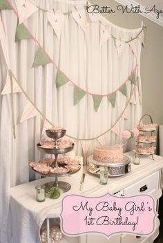 Better With Age: Baby Girl's Birthday Cake
