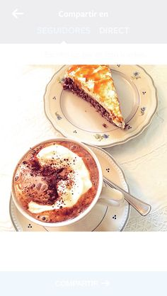 Hot chocolate and cake at coffee shop in Iceland