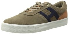 HUF Men's Choice Skate Shoe, Dark Taupe/Cashew, 13 M US - http://shop.dailyskatetube.com/product/huf-mens-choice-skate-shoe-dark-taupecashew-13-m-us/ -  HUF Men's Selection Sneaker. The HUF Selection Sneaker in Dark Taupe & Cashew Low most sensible sneaker Lace up closure Suede higher with leather counter panel and tongue Mesh lining Cushioned insole, ankle collar, and tongue Perforated quarter panels and vamp Foxed midsole Knurled toe bumper -