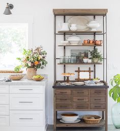 It's snowing out, and I'm inside staring all gooney-faced at the latest post we shared full of inspiration for our little beach house that could (✨go to younghouselove.com/blog). Imagine waking up to a kitchen like this! ❤#inspirationfordays (pic by @heatherbullard )