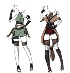 Manga Clothes, Drawing Anime Clothes, Fashion Design Drawings, Fashion Sketches, Anime Outfits, Cool Outfits, Ninja Outfit, Super Hero Outfits, Clothing Sketches