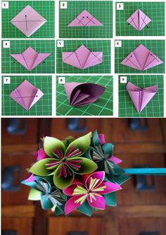 Big Paper Flowers Cloth Flowers Faux Flowers Flower Cards Fabric Flowers Diy Flowers Diy Arts And Crafts Crafts To Make Paper Magic Paper Origami Flowers, Paper Flowers Craft, Paper Crafts Origami, Flower Crafts, Diy Flowers, Origami Flower Bouquet, Wedding Flowers, Origami Diy, Origami Design