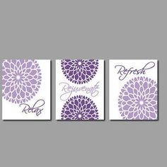Purple Gray Wall Art   Google Search · Pictures For Bathroom ...