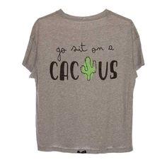 """Camiseta algodón """"Go sit on a cactus"""" #uohop #uohopshop #slowfashion…"""