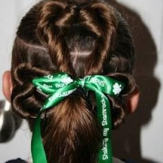 I don't think my hair is quite long enough for this, but I'm going to try it for St. Patty's Day :)