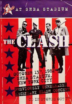 07 de octubre de 1982 la banda #The Clash se presenta en vivo en el Shea Stadium de #Nueva York. #New York #EE.UU #música #music