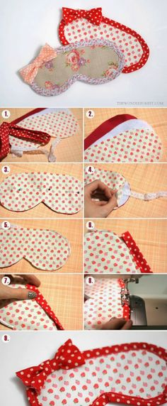 Sleep / Eye Mask Tutorial - Wonder Forest 18 Useful DIY Traveling Projects- a must make! I want an eye mask so Useful DIY Traveling Projects- a must make! I want an eye mask so badly! Easy Sewing Projects, Sewing Hacks, Sewing Tutorials, Sewing Crafts, Sewing Patterns, Diy Crafts, Wood Crafts, Christmas Sewing Projects, Tutorial Sewing