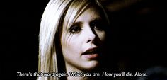 When The First appeared as Buffy to try to psych her out.