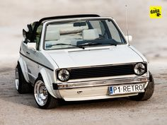 white VW Golf Cabriolet Mk1 with Schmidt TH Line