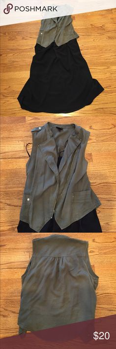 Army Green Vest Light weight army green vest perfect for year round round. Like new condition. From Target. Mossimo Supply Co Jackets & Coats Vests