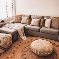 New ashley home furniture living room throw pillows Ideas House Color Schemes, Living Room Color Schemes, Living Room Designs, Colour Schemes, Home Living Room, Living Room Decor, Gray Couch Living Room, Cozy Living Room Warm, Room Colors