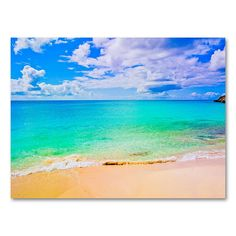ocean canvas gallery wrap large beach landscape wall art aqua blue