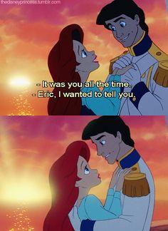 Ariel and Prince Eric Walt Disney, Disney Couples, Disney Love, Disney Magic, Mermaid Disney, Ariel The Little Mermaid, Disney Songs, Disney Quotes, Disney And Dreamworks