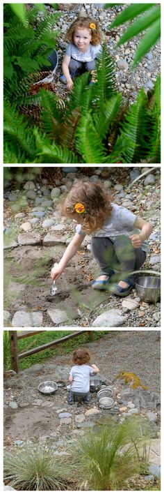 Natural Rock Play Space and Outdoor Kitchen How we designed an outdoor kitchen with sand pits and an underground water pipe in our backyard  FUN AT HOME WITH KIDS