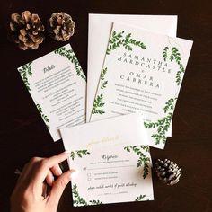 271 отметок «Нравится», 4 комментариев — Wedding Paper Divas (@weddingpaperdivas) в Instagram: «Inspired by greenery and natural elements, this wedding suite is a breath of fresh air. Via…»