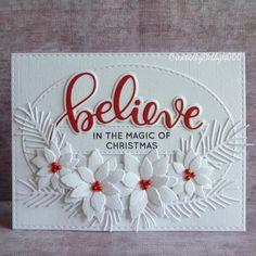 A Scrapjourney: Poinsettia Spray - card making - Weihnachten Christmas Cards 2018, Homemade Christmas Cards, Noel Christmas, Diy Christmas Gifts, Homemade Cards, Holiday Cards, Christmas Vacation, Christmas Abbott, Christmas Cookies