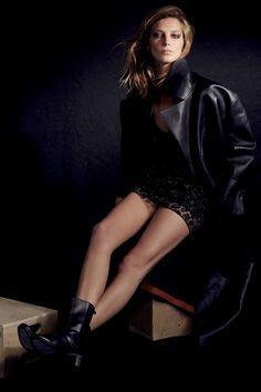 daria werbowy cass bird5 Daria Werbowy Models Leather Fashions for Cass Bird in LExpress Styles
