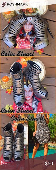 "🍾Colin🍾 Oh la OMG, talk about fashion!. These brand new Colin Stuart gladiator ankle heels are ""Rocking""🍾.  Catwalk queen no doubt, no box or tags never worn packed with posh love!. Faaaaabulous!!!!!! Colin Stuart Shoes Heels"
