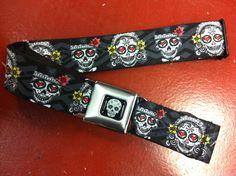 Sugar Skull Dark Seat Belt Belt