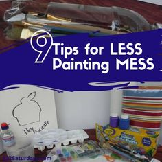 Kids love to paint and parents find it messy and stressful with these 9 tips everyone can have a great time