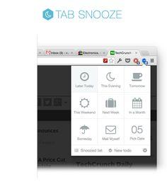 Suzanne Rubinstein acaba de crear un pin muy interesante respecto a ¡Dale snooze a tus pestañas en Chrome con Tab Snooze!, no te lo pierdas.