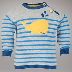 Buy John Lewis Baby Whale Jumper, Blue online at JohnLewis.com - John Lewis