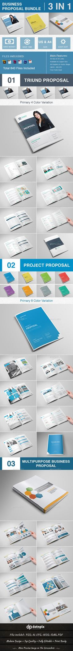 Business Proposal Bundle | Volume 2 — Photoshop PSD #word proposal template…
