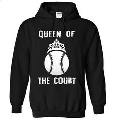 Queen of the court - Baseball - #tee times #shirt maker. MORE INFO => https://www.sunfrog.com/Sports/Queen-of-the-court--Baseball-4006-Black-33301362-Hoodie.html?60505